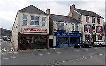 SS8983 : Three Bridgend Road businesses, Aberkenfig by Jaggery