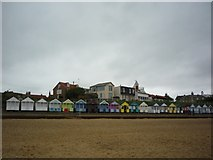 TM5075 : Beach huts at Southwold by DS Pugh