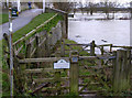 TL1498 : Bridleway gate at Ferry Bridge by Alan Murray-Rust