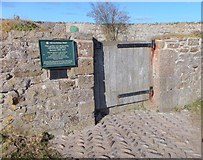 NU1341 : Entrance to the walled garden of Lindisfarne Castle by Barbara Carr
