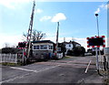 SN4006 : Level crossing and signalbox, Kidwelly by Jaggery