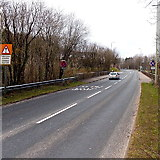 SS8983 : B4281 heads into Aberkenfig by Jaggery