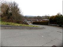 SS8983 : Riverside bend, Aberkenfig by Jaggery
