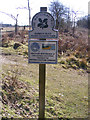 TM4769 : National Trust sign at Mount Pleasant Farm by Adrian Cable