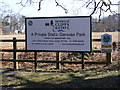 TM4769 : Dunwich Cliffs Estate Caravan Park sign by Adrian Cable