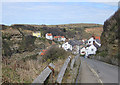 NZ7818 : Steep descent into Staithes by Pauline E