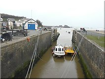 SS2006 : The sea lock of the Bude Canal by John Baker