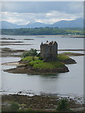 NM9247 : Portnacroish: Castle Stalker and the hills of Mull by Chris Downer