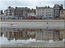 SY6879 : Weymouth: promenade reflections by Chris Downer