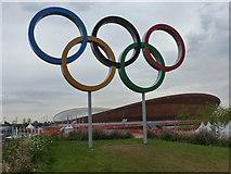 TQ3785 : Stratford: Olympic Rings by Chris Downer