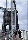 SH5571 : Footpath on the Menai Bridge by Gary Rogers