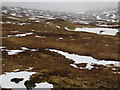 NN2524 : Moorland looking north into a misty Coire Annaich by John Ferguson