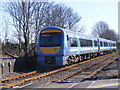TM4069 : Ipswich bound train leaving Darsham Railway Station by Adrian Cable
