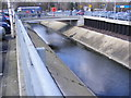 TL8565 : River at Tesco Bury St.Edmunds by Adrian Cable
