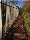SX9265 : Coast path by cliff railway by Derek Harper