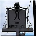 TL6914 : Pub sign for the Green Man by Tiger