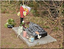 J3773 : Memorial, Comber Greenway, Belfast by Albert Bridge