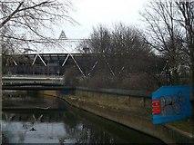 TQ3783 : River Lea towards the Olympic Stadium by David Anstiss