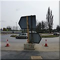 SK5337 : Temporary road signs by David Lally