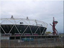 TQ3783 : Olympic Stadium and the Orbit, Olympic Park by David Anstiss
