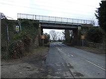 NU2212 : Railway bridge over the A1068 by JThomas