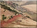 NT5245 : Red soil above the Lauder Burn by Jim Barton