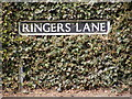 TG0202 : Ringers Lane sign by Adrian Cable