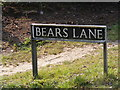 TG0202 : Bears Lane sign by Adrian Cable