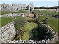 TF8114 : Remains of ruined water mill at Castle Acre Priory by Richard Humphrey