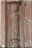 SO4430 : Chancel arch figure (top left), Kilpeck Church by Bob Embleton