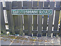 TG2701 : Shotesham Road sign by Adrian Cable