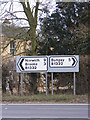 TM2994 : Roadsigns on the B1332 Norwich Road by Adrian Cable