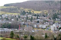 NT4935 : Galashiels from the road to Langlee Mains by Jim Barton
