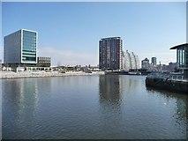 SJ8097 : North Bay, Salford Quays by Christine Johnstone