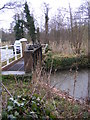 TG1208 : Footbridge & Sluice over the river at Marlingford Mill by Adrian Cable
