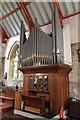 TF4418 : Organ, St Mary's church, Tydd St Mary by J.Hannan-Briggs
