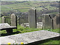 SK2692 : Gravestones at High Bradfield by Dave Pickersgill
