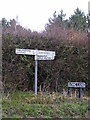 TG1509 : Roadsigns on Marlingford Road/Long Lane by Adrian Cable