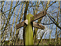 SJ7485 : Signpost, Bollin Valley Way by David Dixon