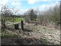 SE1824 : Disused stile and footpath by Humphrey Bolton