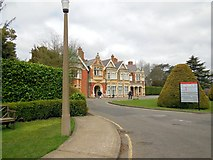SP8633 : Mansion House at Bletchley Park by Paul Gillett