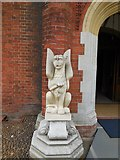 SP8633 : Sculpture at entrance to Bletchley Park mansion by Paul Gillett