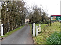 SO5620 : Entrance drive to Pencraig Court by Jaggery