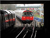 TQ1979 : London Underground train approaching Acton Town by Gareth James