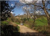 SS6712 : Lane at Saul's Bridge by Derek Harper
