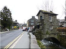 NY3704 : Rydal Road and Bridge House, Ambleside by Kenneth  Allen