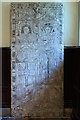 SJ5204 : St Michael's church, Pitchford - C16 incised slab to an Otley family by Mike Searle