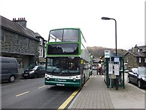 NY3704 : Bus stop, Ambleside by Kenneth  Allen