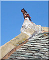 NY5806 : Roof 'decoration' at Whitebrow by Karl and Ali