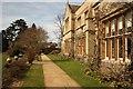 TL1847 : Garden terrace by Richard Croft